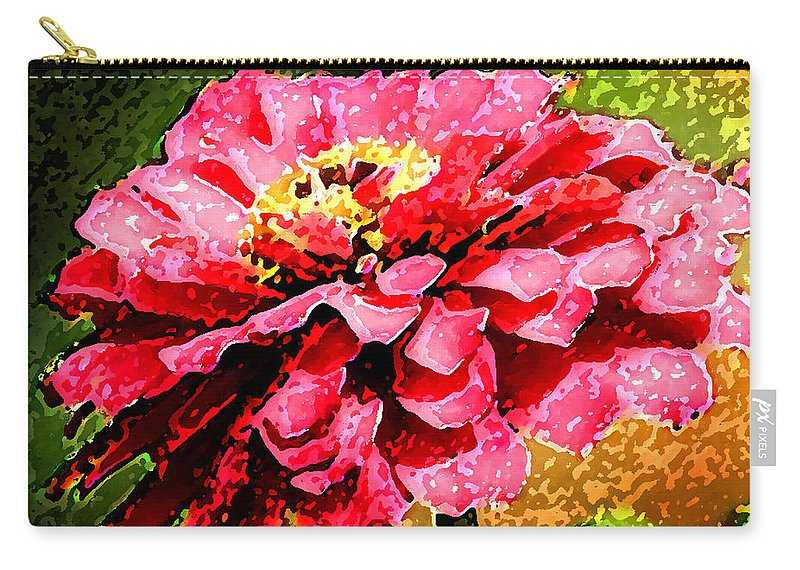 Zinnias Carry-all Pouch featuring the photograph Zinnia Blast by Rich Franco