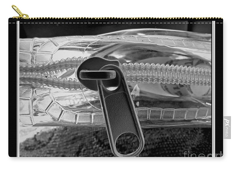 Still Live Carry-all Pouch featuring the photograph Zipped by Debbie Portwood