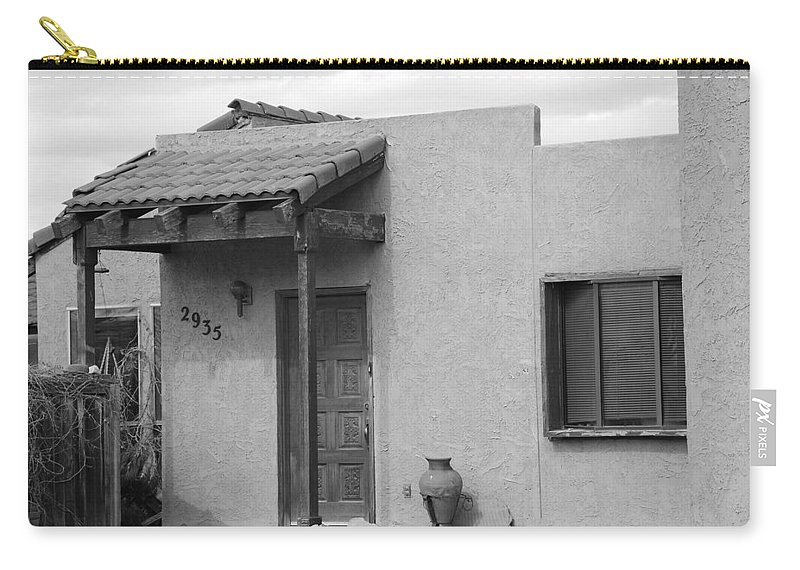 Architecture Carry-all Pouch featuring the photograph Adobe House by Rob Hans