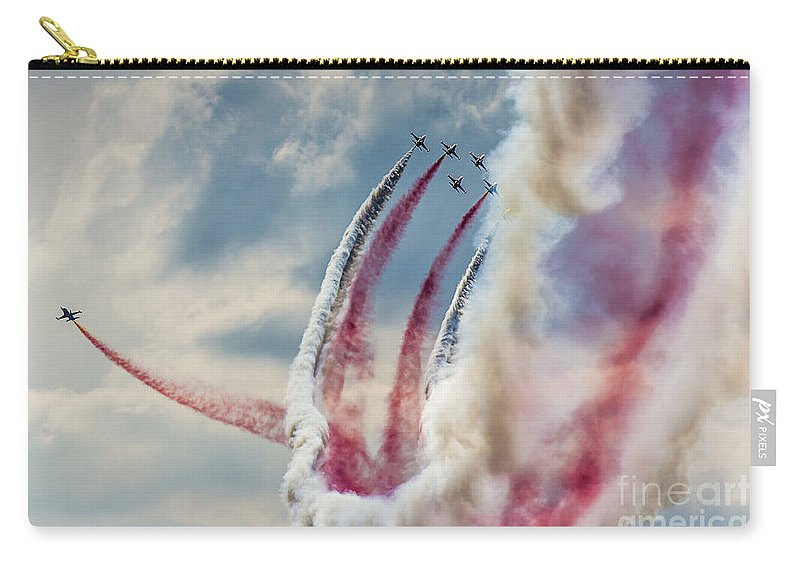 Accuracy Carry-all Pouch featuring the photograph Aerobatic Group Formation by Mariusz Prusaczyk