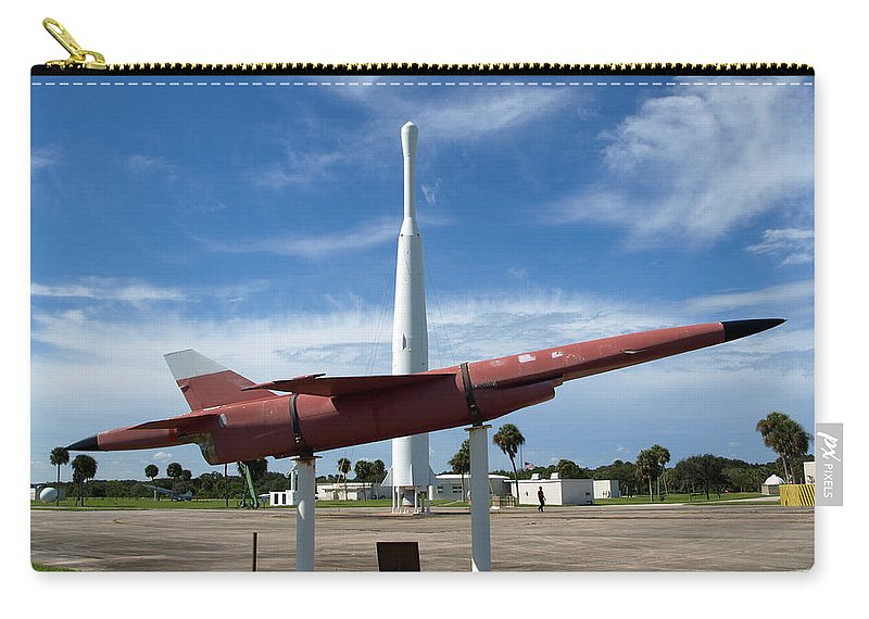 Thor; Able; Thor-able; Missle; U.s.; Airforce; Air Force; Air; Force; Cape; Canaveral; Nasa; Rocket; Carry-all Pouch featuring the photograph Air Force Museum At Cape Canaveral by Allan Hughes