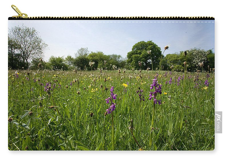 Orchid Carry-all Pouch featuring the photograph Ancient Hay Meadow by Bob Kemp