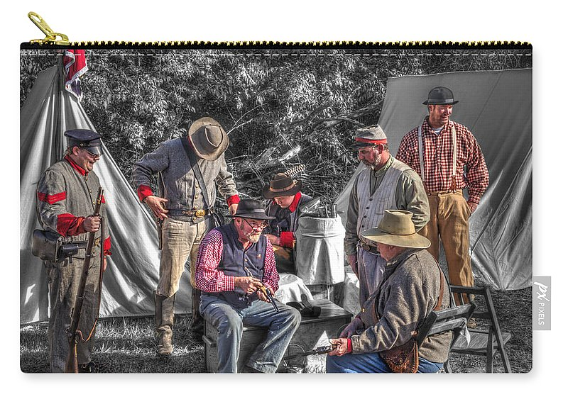 Howitzer Carry-all Pouch featuring the photograph Battle Of Honey Springs V1 by John Straton