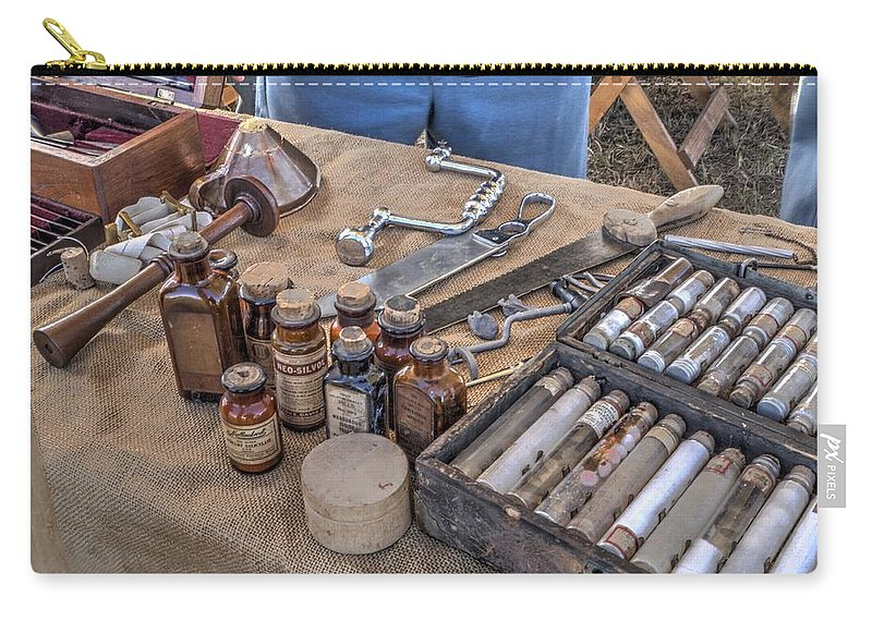 Howitzer Carry-all Pouch featuring the photograph Battle Of Honey Springs V4 by John Straton