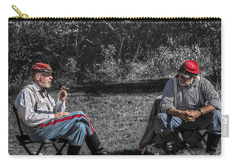 Howitzer Carry-all Pouch featuring the photograph Battle Of Honey Springs V6 by John Straton