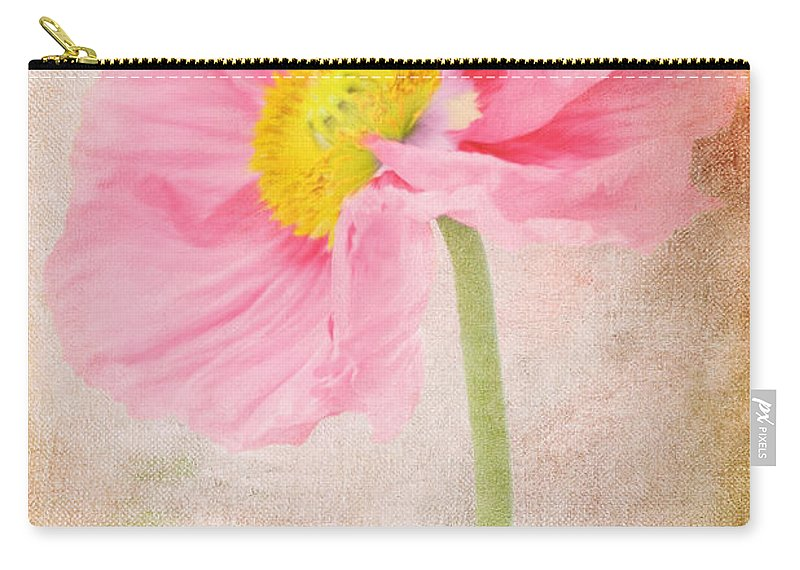Poppy Carry-all Pouch featuring the digital art Bella by Angela Doelling AD DESIGN Photo and PhotoArt
