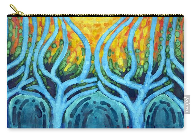 Colour Carry-all Pouch featuring the painting Births Of Day by Wojtek Kowalski