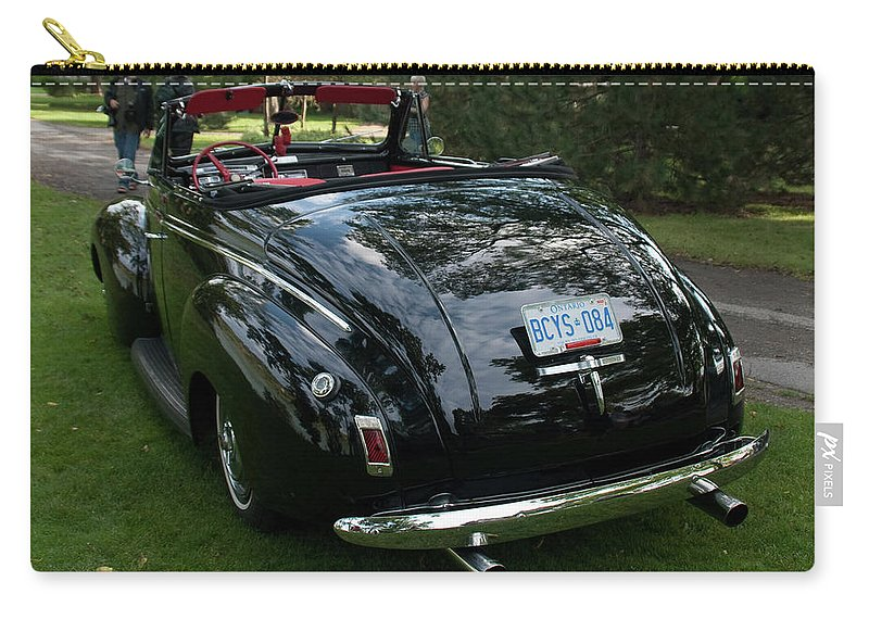 Antique Car Carry-all Pouch featuring the photograph Black And Chrome 13130 by Guy Whiteley
