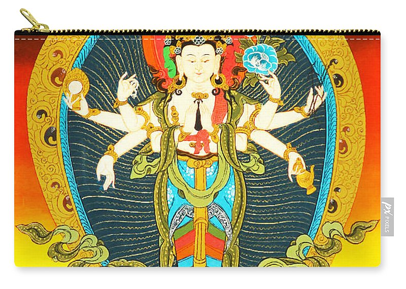 Bodhisattva Of Compassion Carry-all Pouch featuring the photograph Bodhisattva Of Compassion by Jeelan Clark