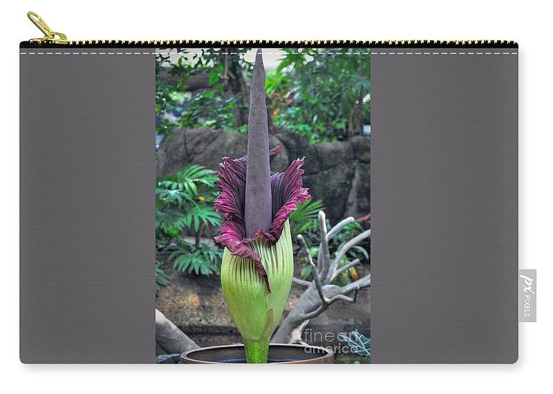 Morticia Carry-all Pouch featuring the photograph Corpse Flower by Savannah Gibbs