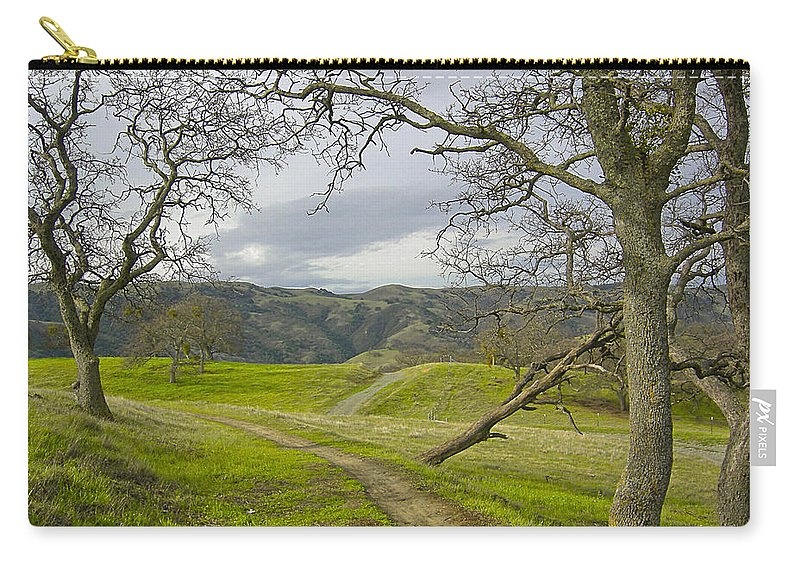 Landscape Carry-all Pouch featuring the photograph East Ridge Trail Spring by Karen W Meyer