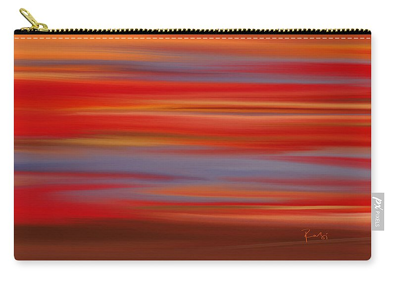 Abstract Carry-all Pouch featuring the digital art Evening In Ottawa Valley by Rabi Khan