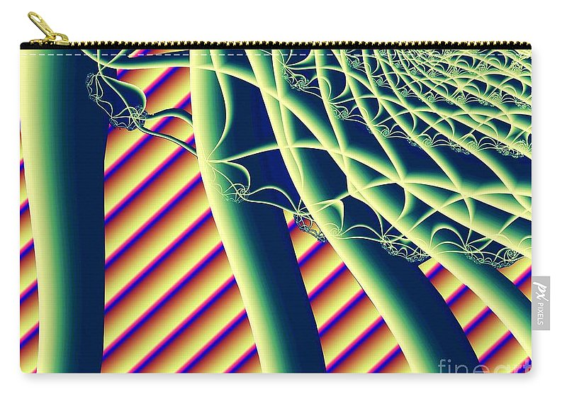 Fractal Carry-all Pouch featuring the digital art Fabaceae by Ron Bissett
