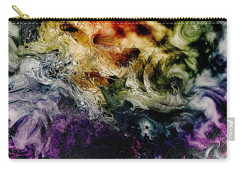 Fiery Carry-all Pouch featuring the digital art Fiery by Linda Sannuti