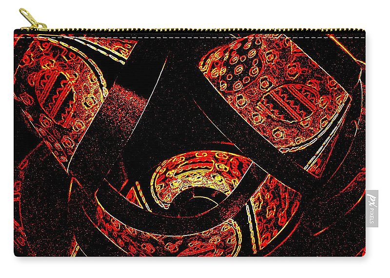 Abstract Carry-all Pouch featuring the digital art Galactic Flow by Will Borden