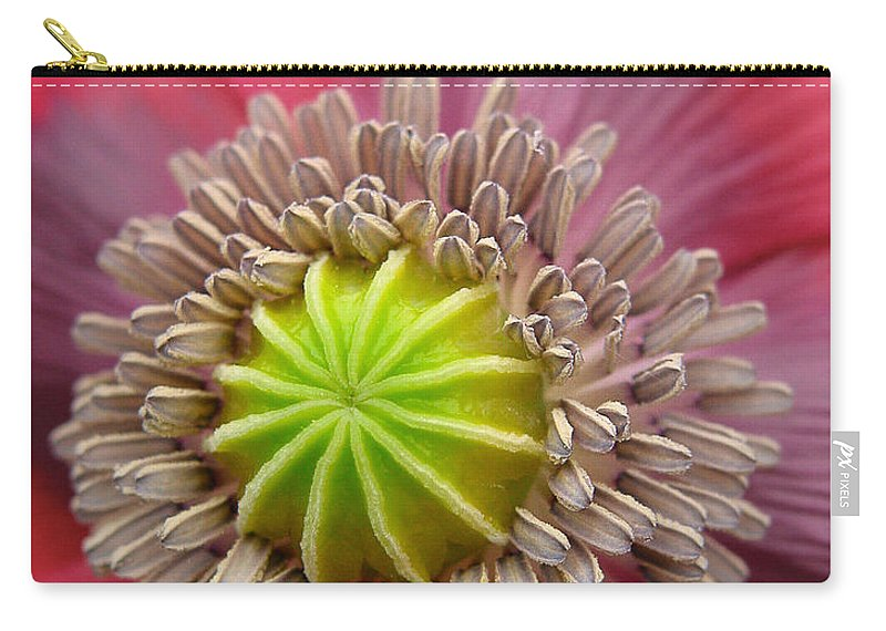 Bloom Carry-all Pouch featuring the photograph Inner Most Poppy by David and Carol Kelly