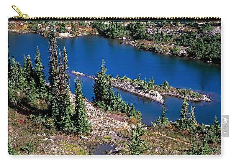 Lake Carry-all Pouch featuring the photograph Lila Lake by Tracy Knauer