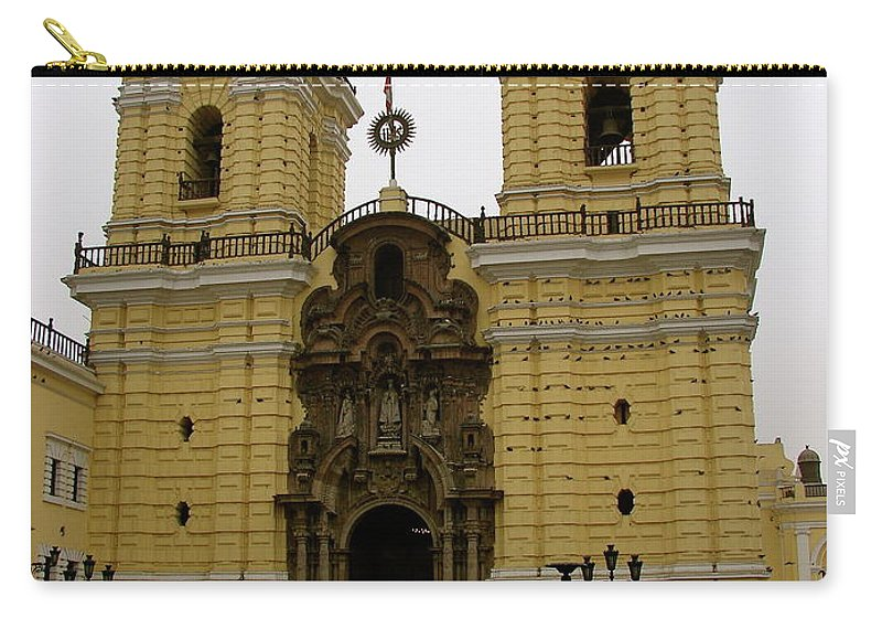 Lima Carry-all Pouch featuring the photograph Lima Peru Church by Brett Winn