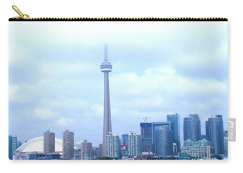 Toronto Carry-all Pouch featuring the photograph Lost In The Clouds by Ian MacDonald