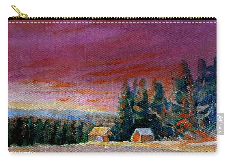Lovely Sweeping Skies Carry-all Pouch featuring the painting Lovely Sweeping Skies by Carole Spandau