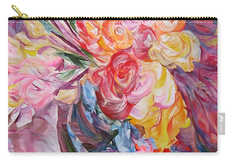 Abstract Carry-all Pouch featuring the painting My Bouquet by Maya Bukhina