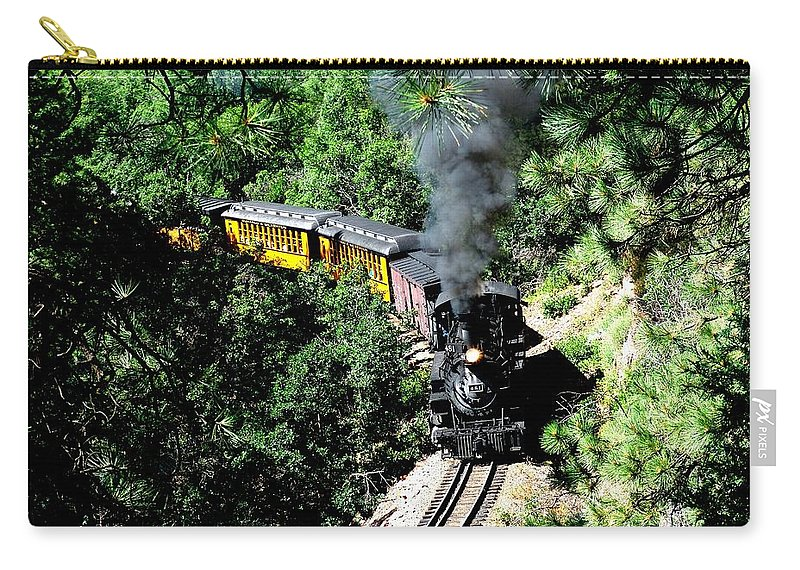 Train Carry-all Pouch featuring the photograph Nostalgic Moments by Carol Milisen