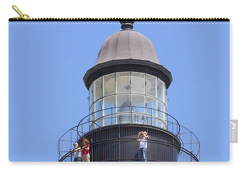 Ponce; De; Leon; Lighthouse; Light; House; Beacon; Navigation; Aid; Lens; Fresnel; Mosquito; Florida Carry-all Pouch featuring the photograph Ponce De Leon Inlet Lighthouse by Allan Hughes