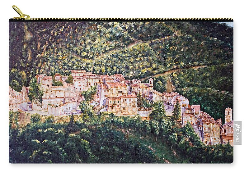 Trees Carry-all Pouch featuring the painting Rays by Michel Angelo Rossi