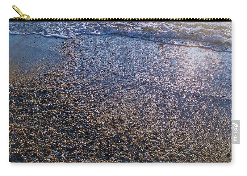 Waves Carry-all Pouch featuring the painting Refreshing Surf by Eric Schiabor