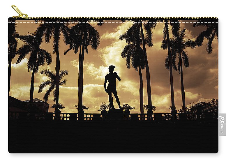 Michelangelo Carry-all Pouch featuring the photograph Replica Of The Michelangelo Statue At Ringling Museum Sarasota Florida by Mal Bray