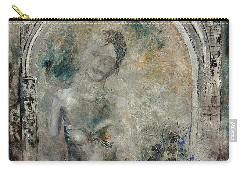 Nude Carry-all Pouch featuring the painting Roman Nude 79 by Pol Ledent
