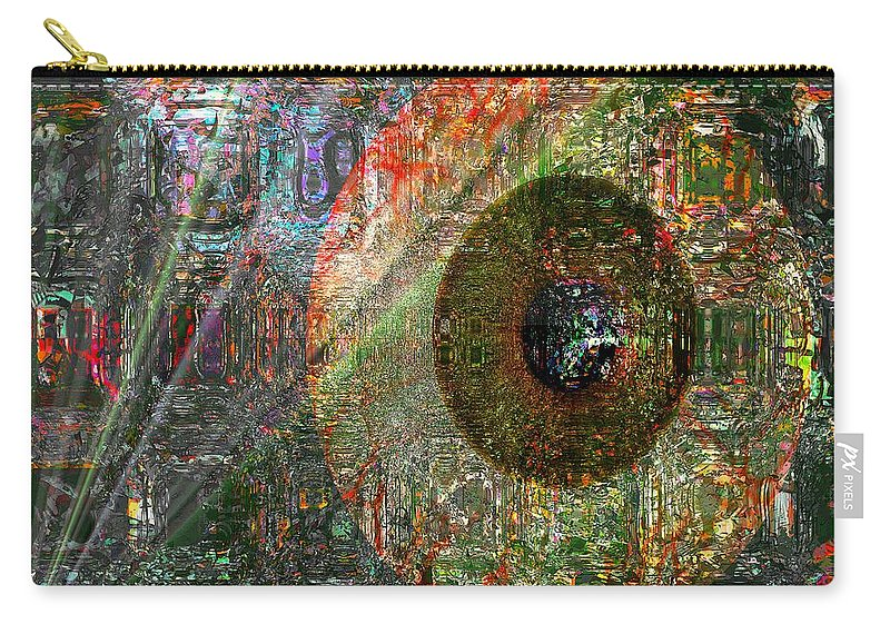 Fania Simon Carry-all Pouch featuring the digital art Savior Watching Over Me by Fania Simon