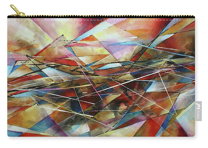 Abstract Carry-all Pouch featuring the painting ' Surface ' by Michael Lang