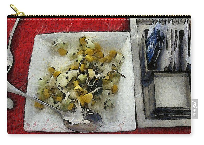Carry-all Pouch featuring the photograph Table Settings At Time Of A Meal by Ashish Agarwal
