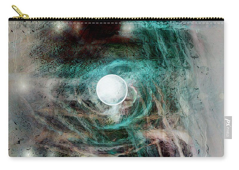 Space Art Carry-all Pouch featuring the digital art The Singularity by Linda Sannuti