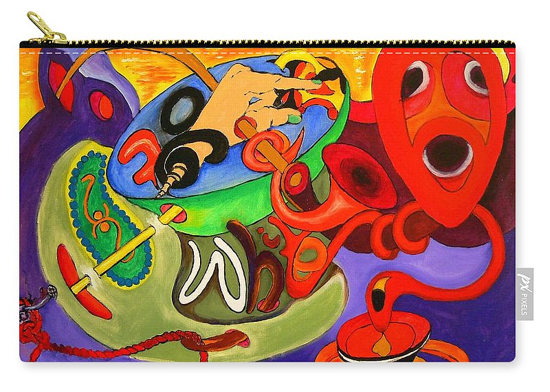 Time Carry-all Pouch featuring the painting Time Constraints by Helmut Rottler