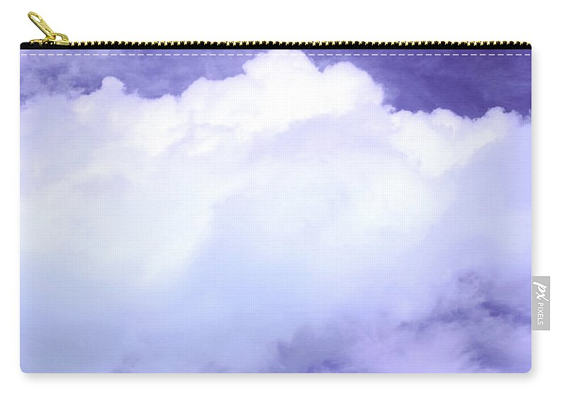 Tree Carry-all Pouch featuring the photograph Tree Clouds Hill by Mal Bray