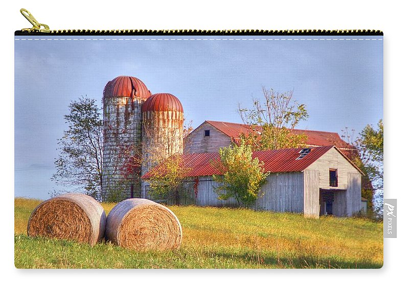 Barn Carry-all Pouch featuring the photograph Two by Mitch Cat