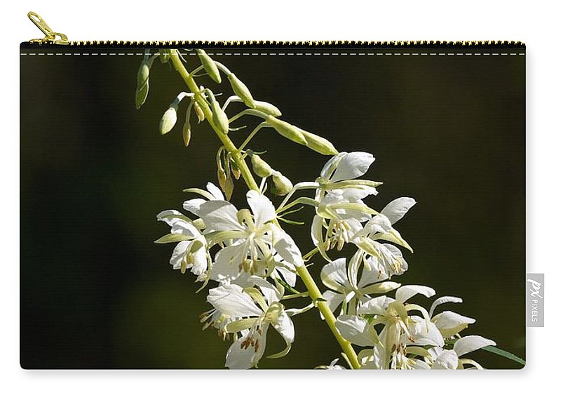 Lehtokukka Carry-all Pouch featuring the photograph White Fireweed by Jouko Lehto