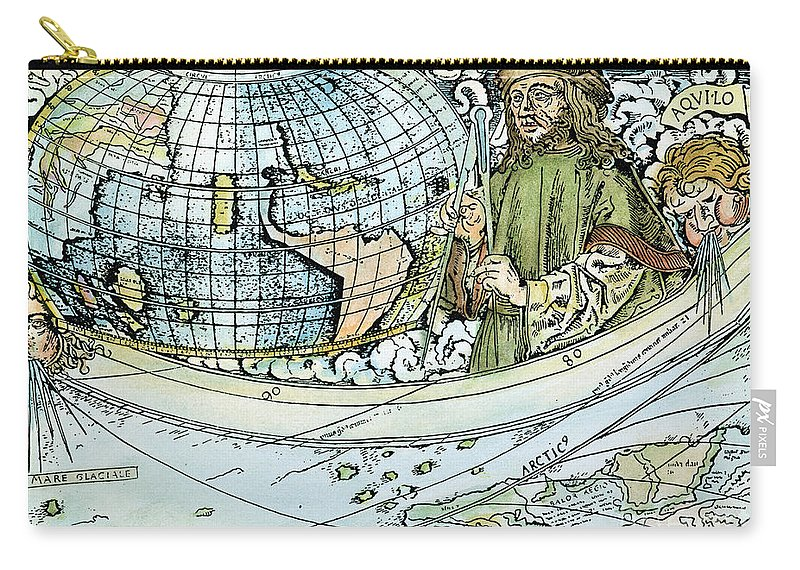1507 Carry-all Pouch featuring the painting Amerigo Vespucci (1454-1512) by Granger