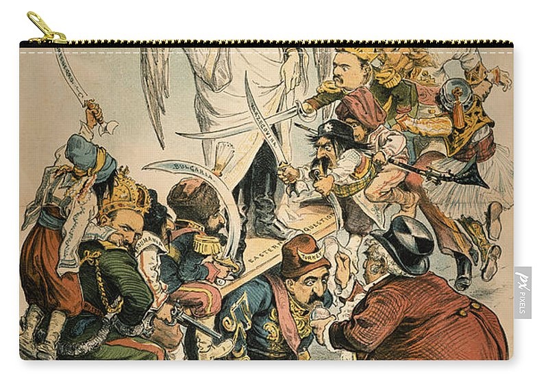 1886 Carry-all Pouch featuring the painting Otto Von Bismarck by Granger
