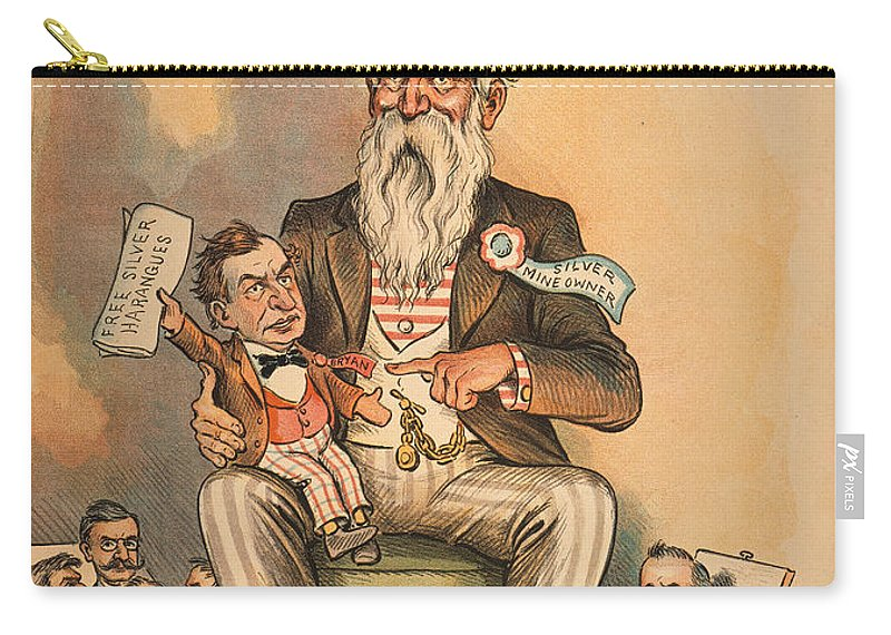 1896 Carry-all Pouch featuring the painting William Jennings Bryan by Granger