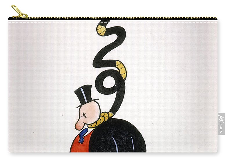 1929 Carry-all Pouch featuring the painting Depression Cartoon by Granger