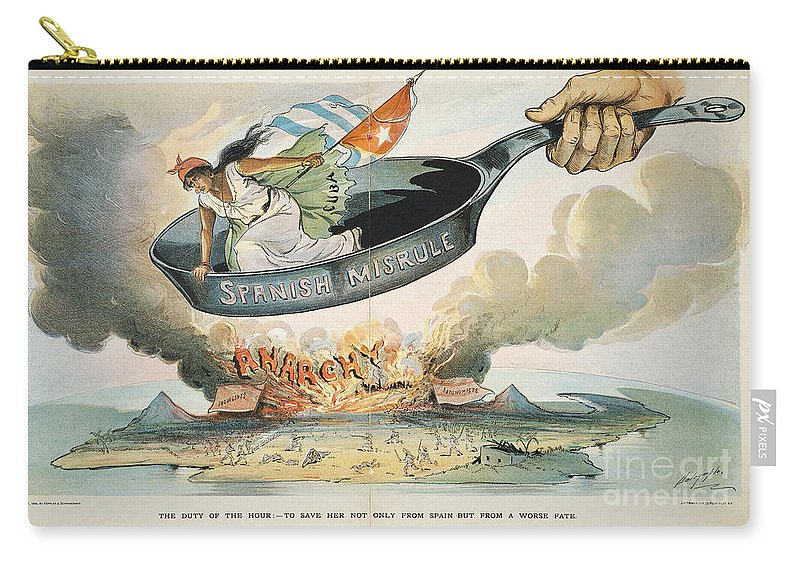 1898 Carry-all Pouch featuring the painting Spanish-american War, 1898 by Granger