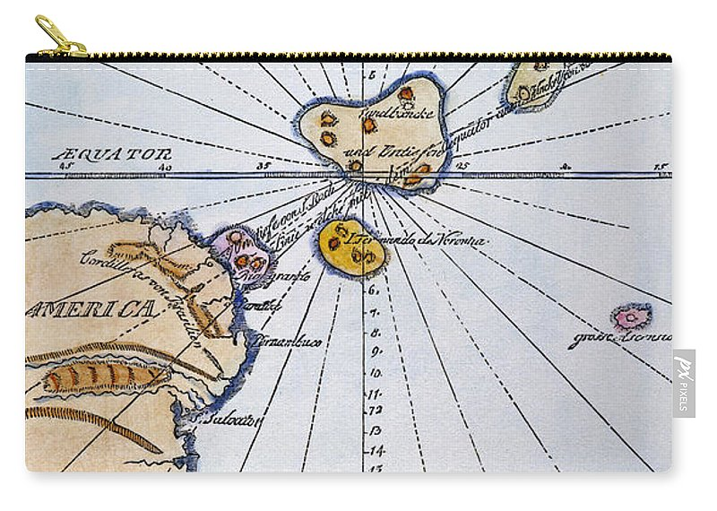 1785 Carry-all Pouch featuring the painting Traces Of Atlantis by Granger