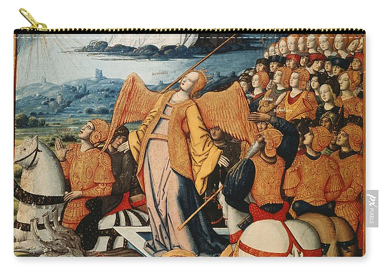 14th Century Carry-all Pouch featuring the painting Illumination: Petrarch by Granger