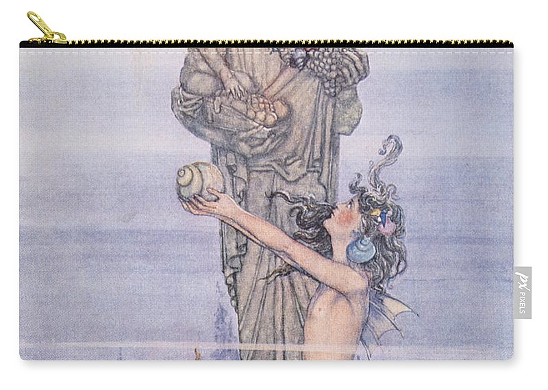 1913 Carry-all Pouch featuring the painting Andersen: Little Mermaid by Granger