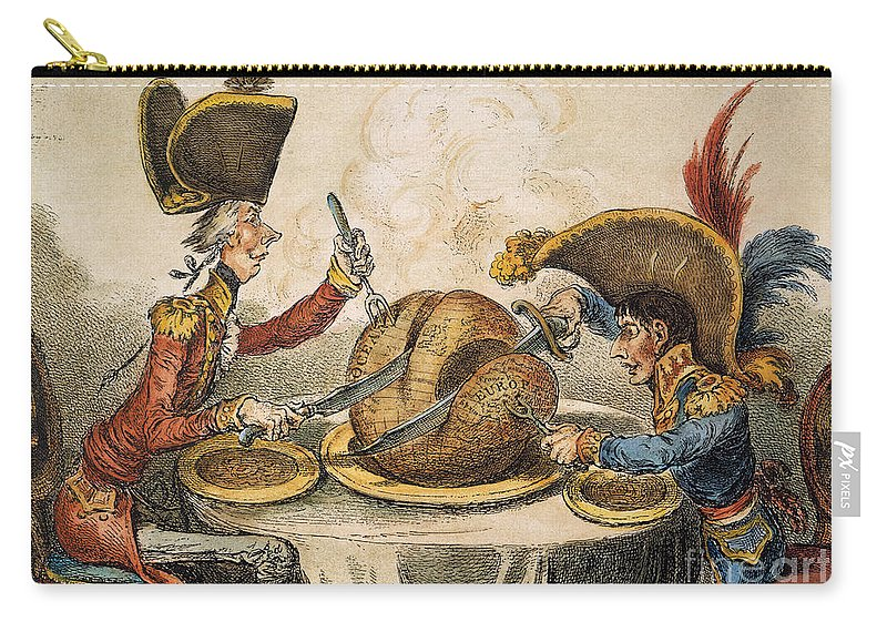 1805 Carry-all Pouch featuring the painting Napoleon Cartoon, 1805 by Granger
