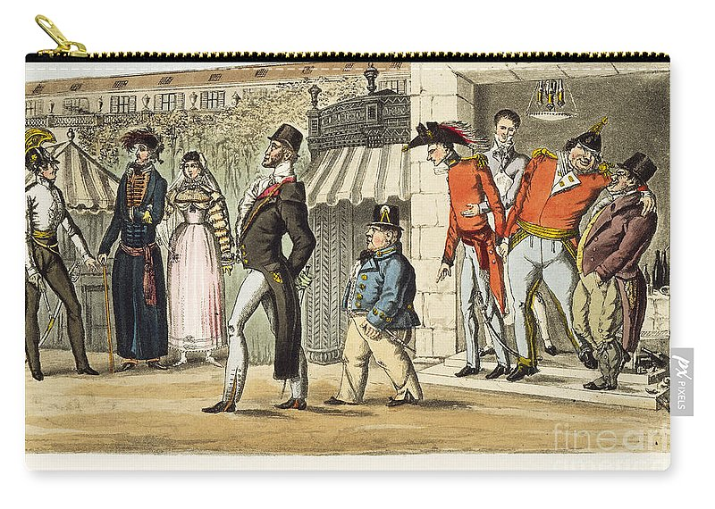 1814 Carry-all Pouch featuring the painting Paris Occupation, 1814 by Granger