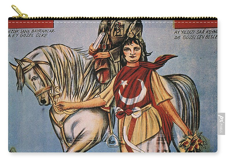 1920s Carry-all Pouch featuring the painting Republic Of Turkey: Poster by Granger
